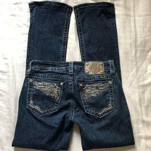 Miss Me Slim Boot Jeans Sz 27